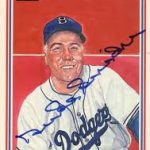 Duke Snider 1983 Hall of Fame Heroes autograph