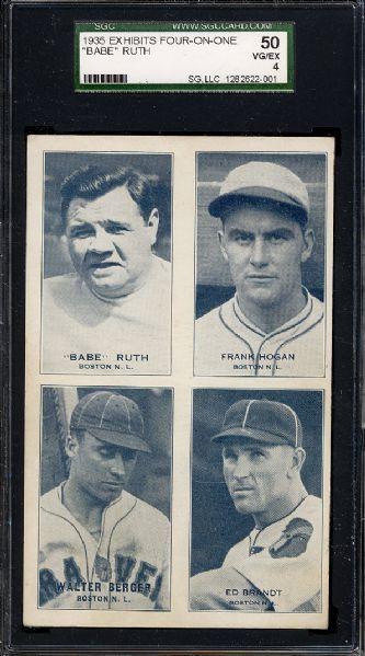 1935 Babe Ruth exhibit card