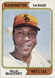 Willie McCovey Washington Nationals 1974 Topps