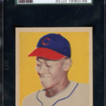 Satchel Paige 1948 Leaf baseball card
