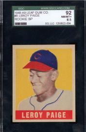 Satchel Paige 1948 Leaf baseball card