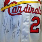 Autographed Lou Brock jersey