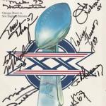 Autographed Super Bowl 20 program