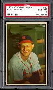 Stan Musial 1953 Bowman Color