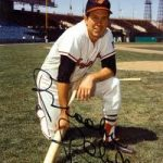 Autographed picture Brooks Robinson