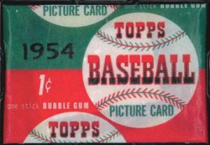 Unopened pack 1954 Topps baseball