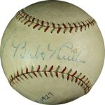 Autographed Babe Ruth Lou Gehrig baseball