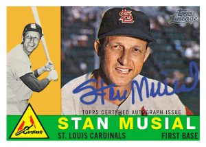 1960 Topps reprint autograph Stan Musial lineage
