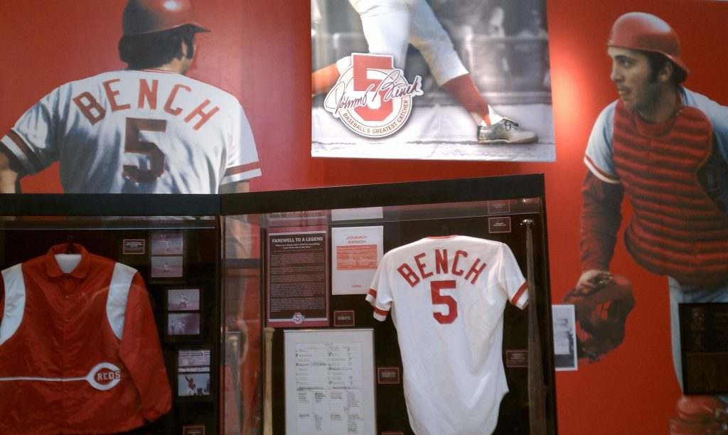 Reds Hall of Fame Johnny Bench exhibit