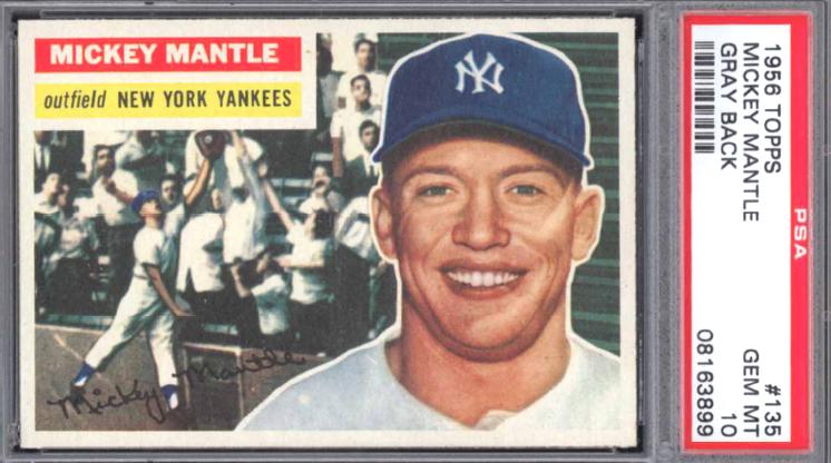 PSA 10 1956 Topps Mickey Mantle