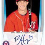 Bryce Harper 2011 Bowman autograph card