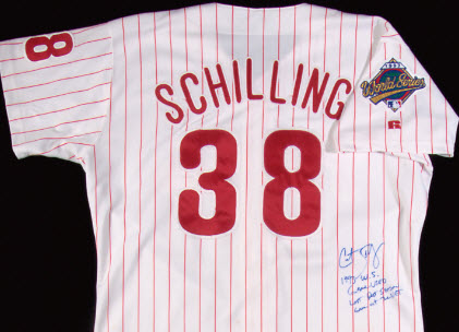 Curt Schilling World Series jersey