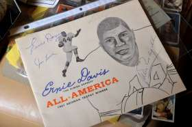Ernie Davis signed memorabilia Jim Brown