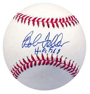 Autographed Bob Feller baseball