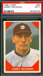 Harry Heilmann 1960 Fleer Baseball Greats