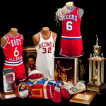 Game worn Dr. J items