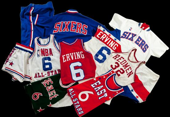 Game worn Julius Erving items