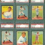 PSA 6 graded 1933 Goudey baseball set