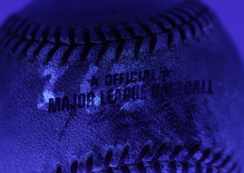 Jeter ball blacklight image of MLB code