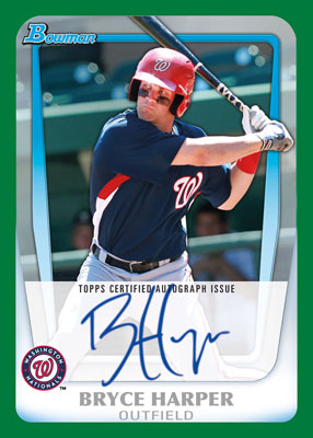 Bryce Harper autographed card