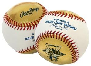 Home Run Derby Gold Baseball