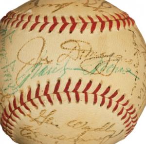 Marilyn Monroe-Joe DiMaggio autographed baseball