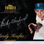 Onyx Parallel Sandy Koufax autographed 2012 Tribute