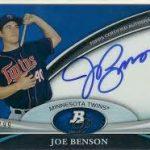 2011 Bowman Platinum Joe Benson auto