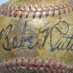 Babe Ruth non-genuine signed baseball