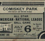 Full ticket 1933 All Star Game