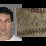 Fake Babe Ruth signed baseball