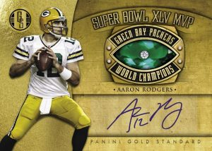 Aaron Rodgers diamond embedded ring card