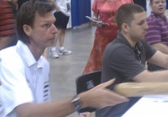 Autograph session Randy Johnson