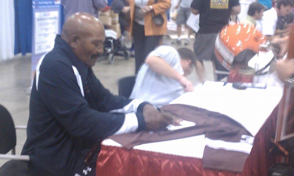 Autograph session Jim Brown