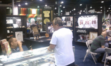 sports memorabilia at Hunt Auctions booth