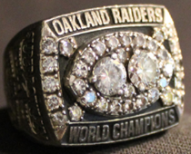 Super Bowl XV ring Ray Guy Raiders
