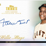 Willie Mays auto Topps Tribute