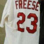 Torn jersey David Freese 2011 World Series