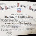 NFL charter Baltimore Colts 1953