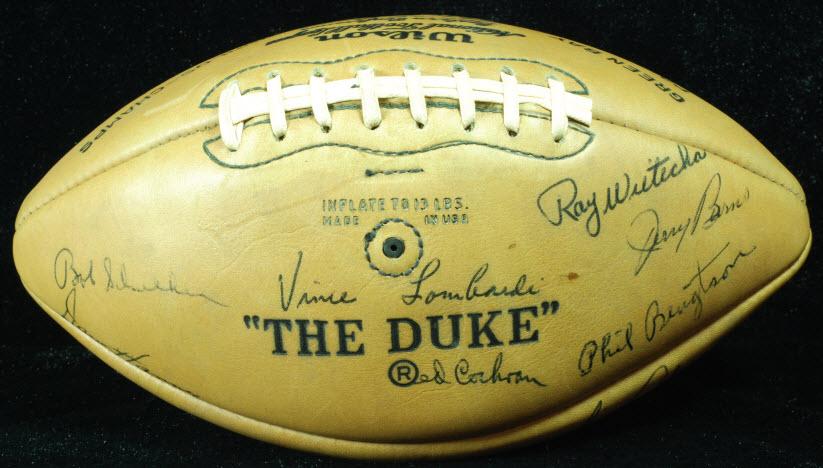 Autograph Vince Lombardi Packers