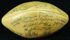 1966 Packers signed football