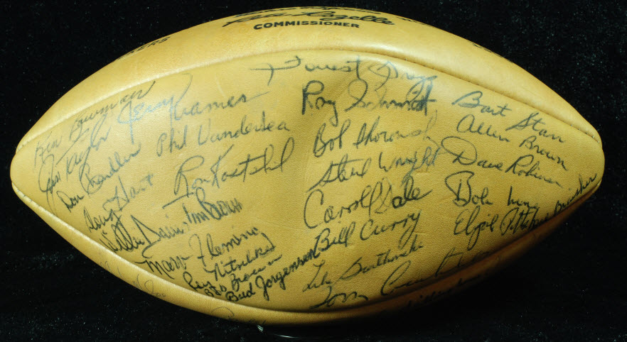 Green Bay Packers 1966 signed ball