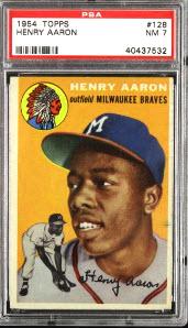 Hank Aaron rookie card