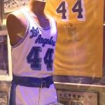 Game worn Jerry West jersey