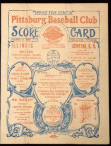 First World Series program 1903