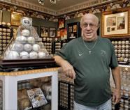 Autographed baseballs Dennis Schrader