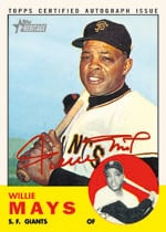 Willie Mays autographed 2012 Topps Heritage