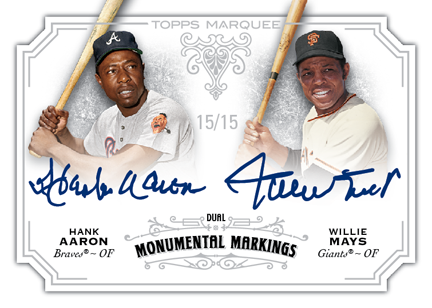 Aaron Mays Topps 2012 Marquee auto