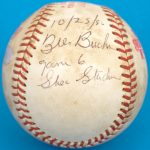 Bill Buckner autographed 1986 World Series game ball