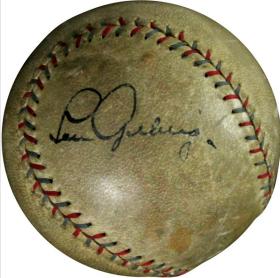 Autographed Lou Gehrig baseball
